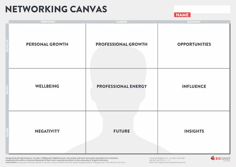 Networking Canvas English Edition